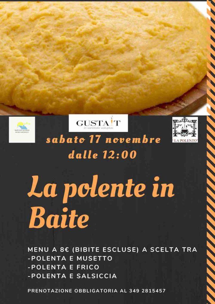 "Baite sot lis stelis presenta l'evento ""La polente in Baite"""