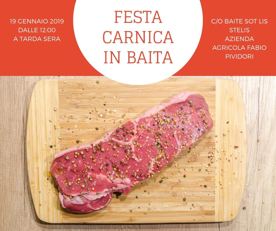 Sabato 19 gennaio: Festa Carnica in Baite sot lis stelis!!!