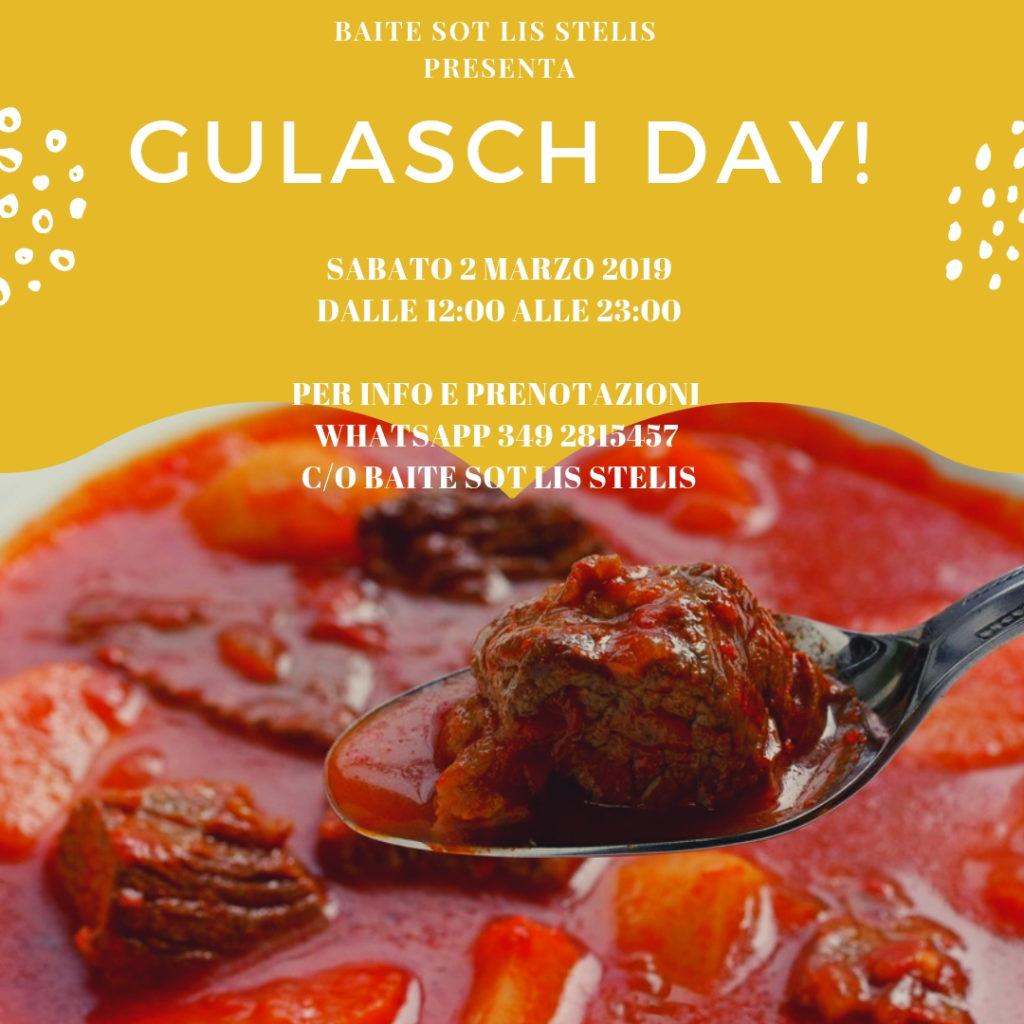 Gulasch day: sabato 2 marzo 2019 dalle 12 a tarda sera alla Baite sot lis Stelis