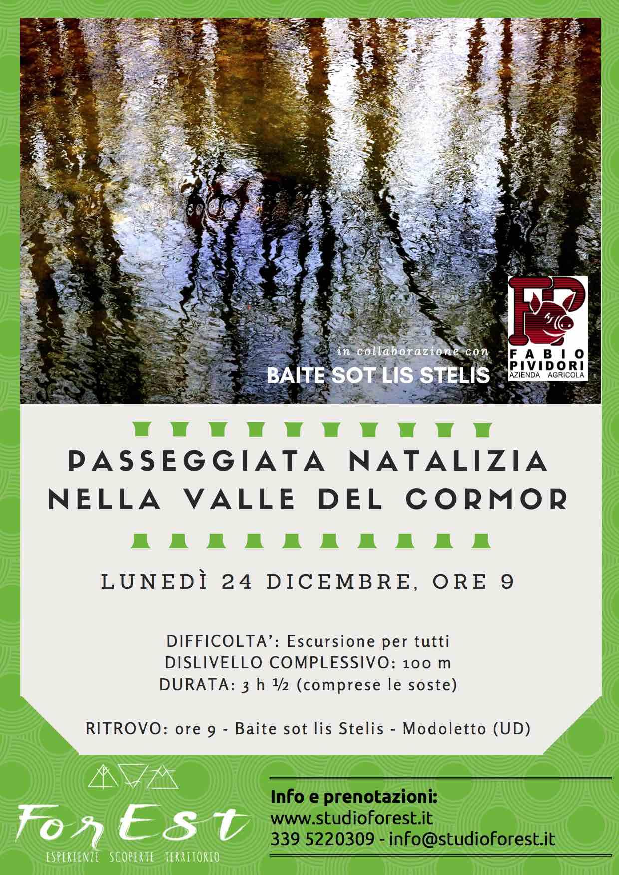 Passeggiata natalizia nella valle del Cormor: 24/12/2018 ore 9:00