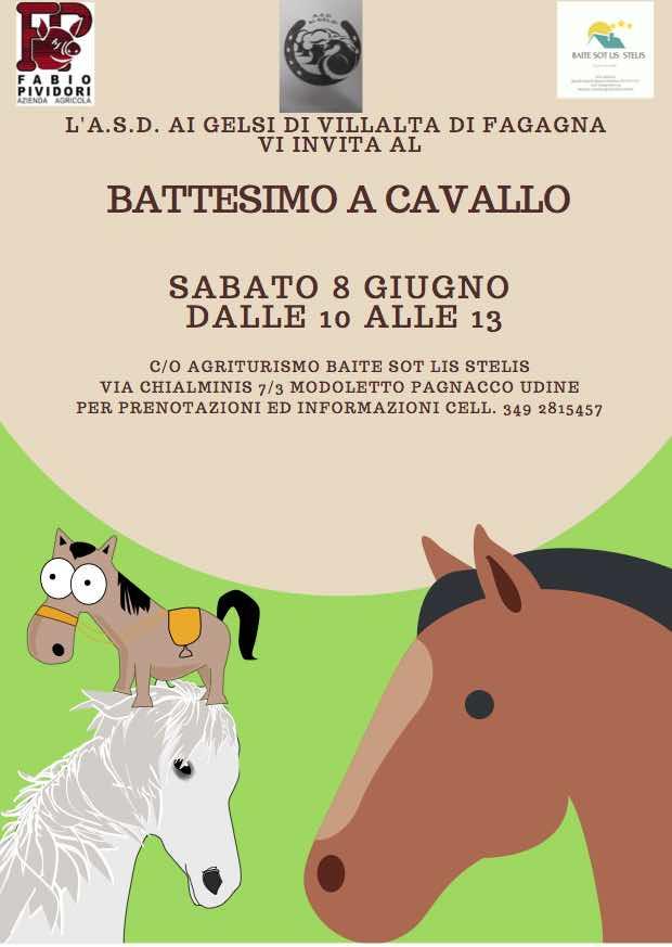 Sabato 8 giugno siete tutti invitati al Battesimo a cavallo!!!