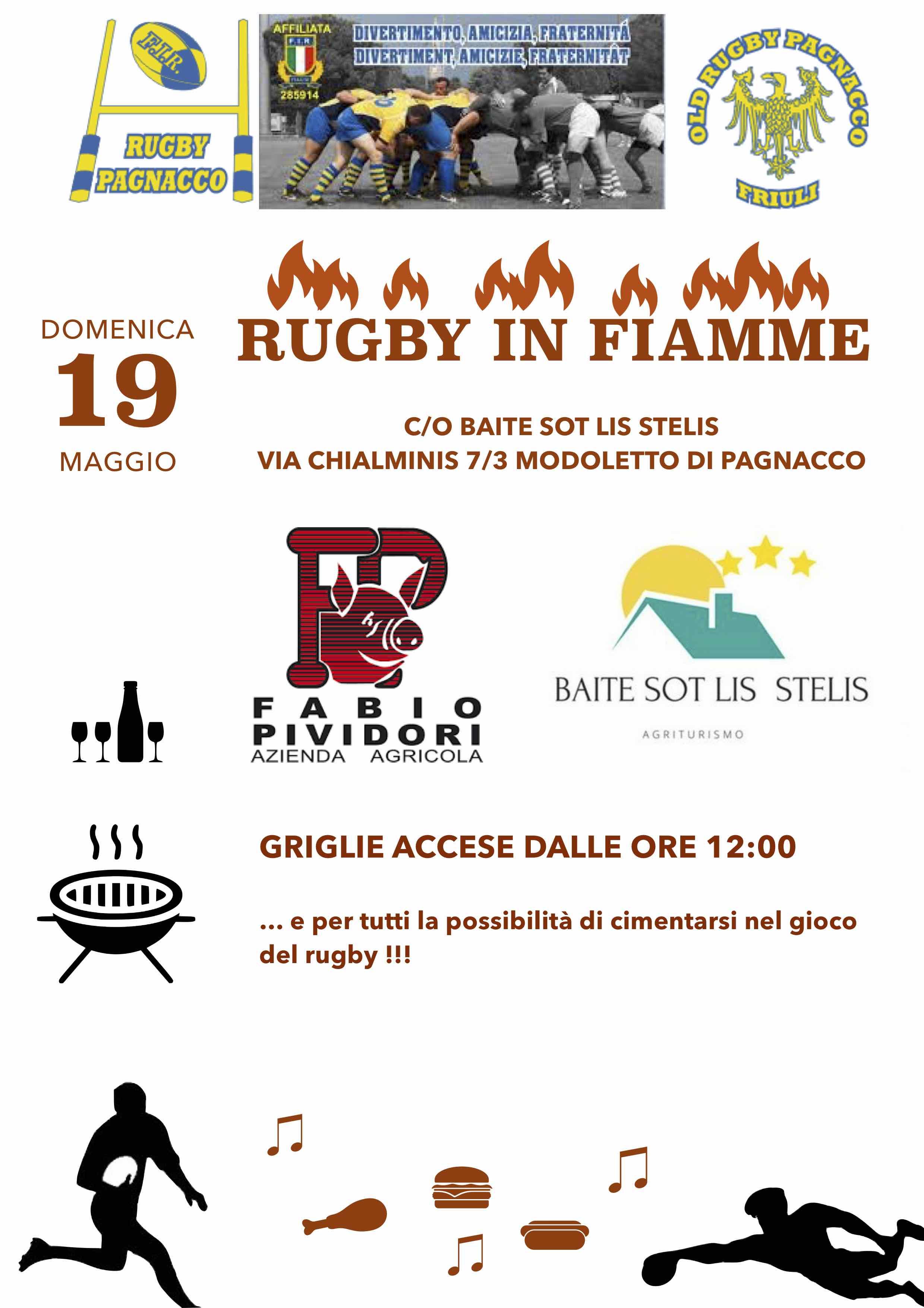 Festa del rugby: domenica 19 maggio dalle 10 in poi